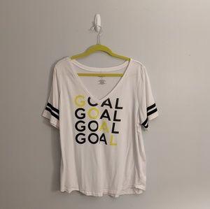 3/$25 Torrid Active Goal Soccer V Neck Tee Shirt